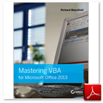 کتاب Mastering VBA for Microsoft Office 2013 ، نوشته Richard Mansfield