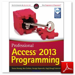 کتاب Professional Access 2013 Programming